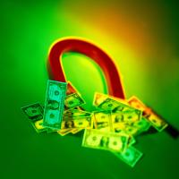 Obrazek podkowy i pieniędzy